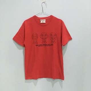 Baju kaos merah baby milo