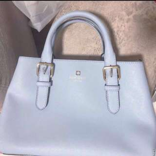 Authentic kate spade baby blue handbag 淺藍色手袋 katespade
