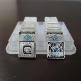 1 gram Silver Bar - Geiger Edelmetalle (Original Series)