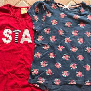 Mothercare star and floral tee