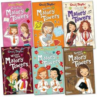 The Malory Towers Series by Enid Blyton (6 Books)