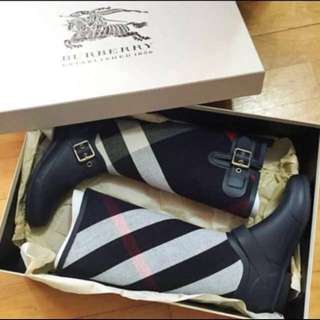 Authentic Burberry 秋冬鞋 boots shoes 雨鞋 雨靴 水鞋