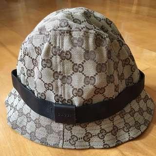 GUCCI帆布皮帶MONOGRAM漁夫帽