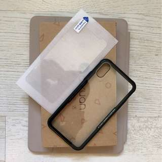 IPhone X case + screen protector 保護殻連貼