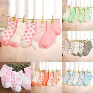 Baby Boy/Girl Cotton Toddler Kids Socks