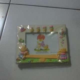 Foto frame plastik gambar timbul