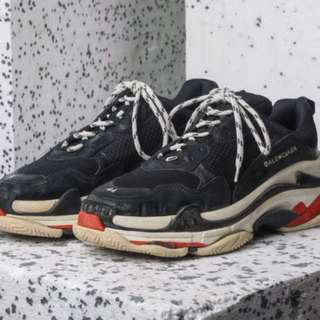 balenciaga triple s homme orange