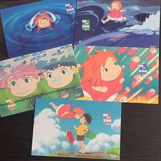 Ponyo Studio Ghibli Postcards set
