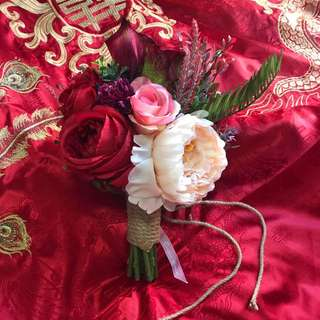 紅色雙面花球