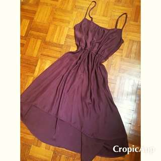 Cotton On Mermaid Maroon Chiffon Dress