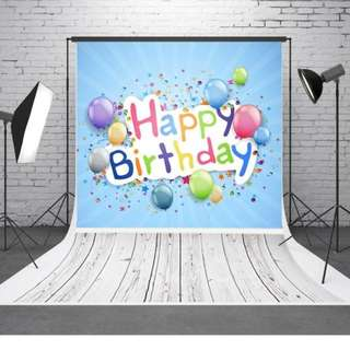 1.5 x 2.1m Floor Birthday Vinyl Backdrop CP Photography Props Photo Background cloth