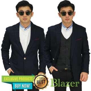 Blazer Formal Pocket List Dark Navy
