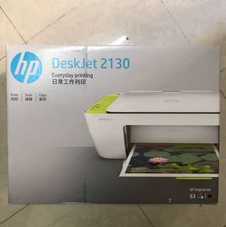 全新HP DeskJet 2130 3-in-1 Printer(不包墨水)