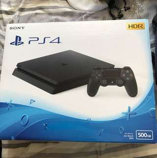 PS4 slim 500gb 黑色 (99.9%new 行貨)