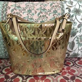 MK Gold Metallic handbag