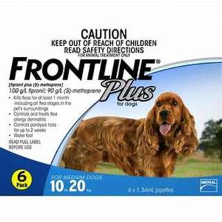 Frontline Plus for dog 10 to 20kg 6 pack