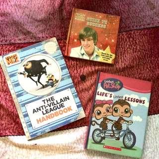 Assorted Children's Books Bundle (Minions,LPS,HSM)