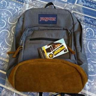Jansport rightpack leather bottom