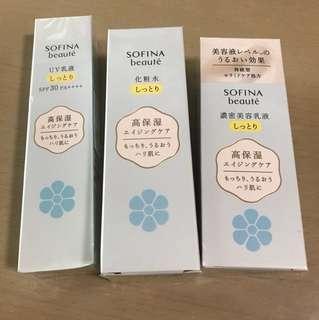 Sofina beaute 高保濕防曬、化粧水及乳液