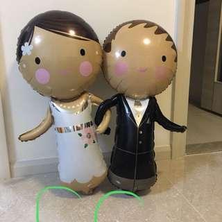 新郎新娘氣球1對
