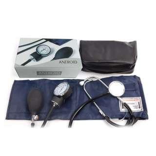 Blood Pressure Stethoscope Meter Home Aneroid Monitor Cuff Sphygmomanometer Set Arm & Wrist BP Monitor