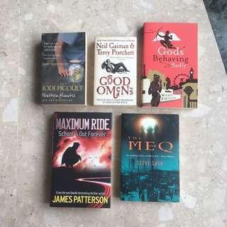 Neil Gaiman, Terry Pratchett, Jodi Picoult, James Patterson