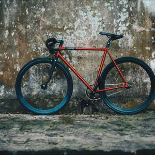 Creme Vinyl Solo Infrared Fixed Gear Bike