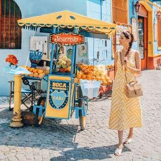 Mister Zimi - Yellow White Stripe Dress ✧ Tara Milk Tea