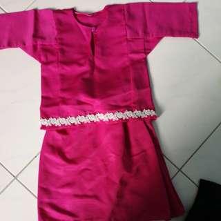 Pink kurung
