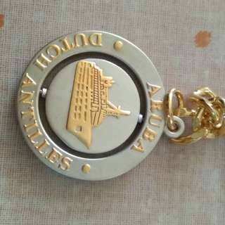 Aruba Dutch Antilles重型金屬匙扣,全新未用,完美主義者勿入。