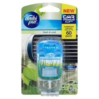 Ambi Pur Car Air Freshener Fresh and Cool (Green)