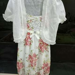 White Flower Dress (MASIH BARU)