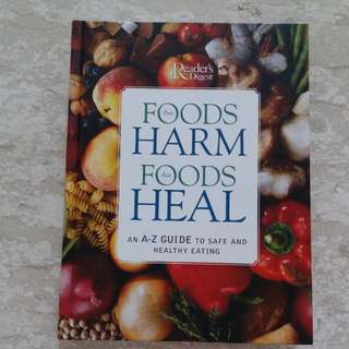 Brand New Foods that Harm, Foods that Heal Health Book