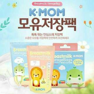 K-MOM Breast Milk Storage Bags 200ML - 100Pcs