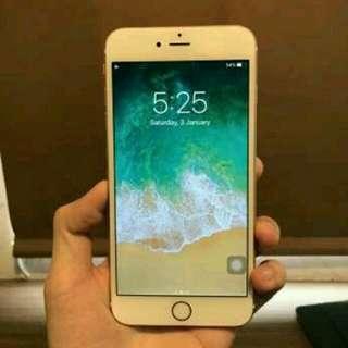 iPhone 6s plus gold  kapasitas 64gb