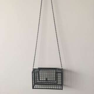 Nila Anthony Metallic Gridlock Metal Crossbody