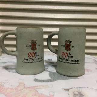 Vintage San Miguel Beer Mugs (2pcs)