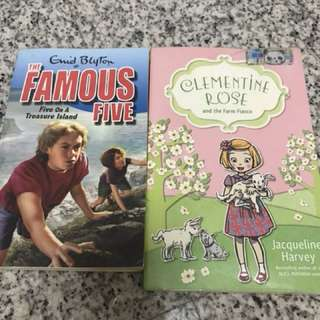 Enid Blyton's Famous Five and Clementine Rose story book