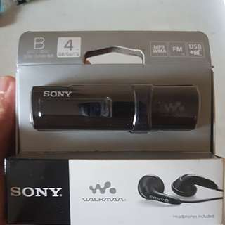 Brand new Sony MP3 with headphones