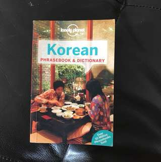 lonely planet korean phrasebook and dictionary