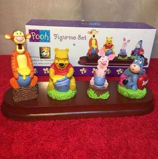 Disney Winnie The Pooh Figurine Set 公仔塑像