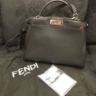 Fendi Peekaboo Regular in Black