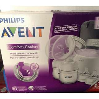 Avent double electric breast pump w/ freebies