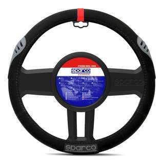 Sparco SPC1107RS Steering Wheel Cover (Black/Red)
