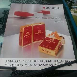 Poster Dunhill King Size.