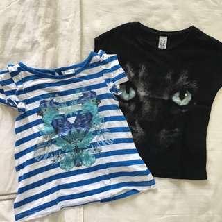 Zara and Gingersnap T-shirts