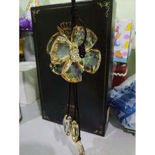 Crystal Four leaf clover strap