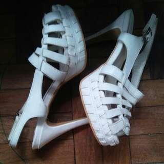 white high heels