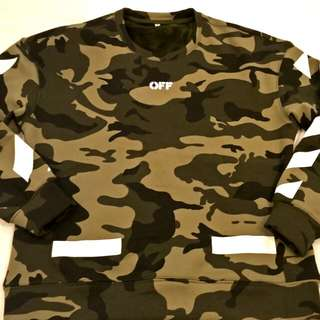 Man Sweater offwhite army camoflase high quality material.