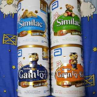 Milk Powder Similac stage 1,2,3,4